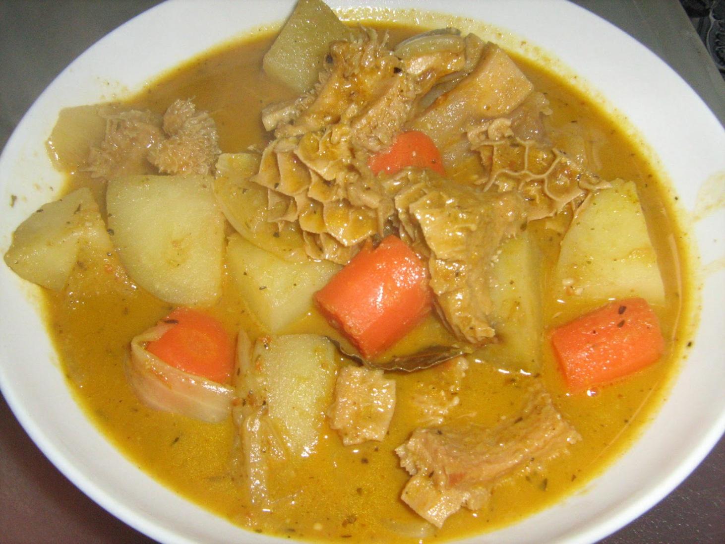 Pépé soupe de tripes et viande de mouton