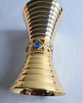 Encensoir doré métallique