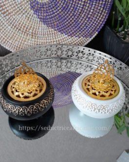 Encensoir céramique blanc