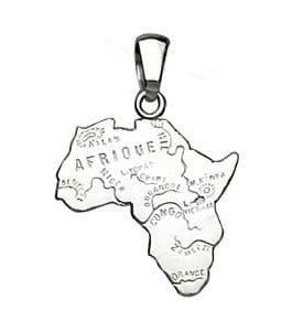 Pendentif carte d'Afrique