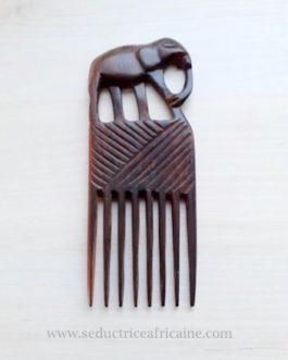 Peigne afro en bois d'ébène