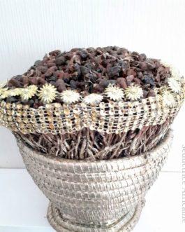 Pot pourri décoratif doré : Racines de vétiver + diguidjé+ parfum