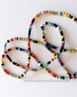 Bine bine rasta vert/baya / perles de reins / collier de hanche T42 à 44