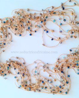 Bine bine/baya / perles de reins / collier de hanche L: 44cm (sans élastique)